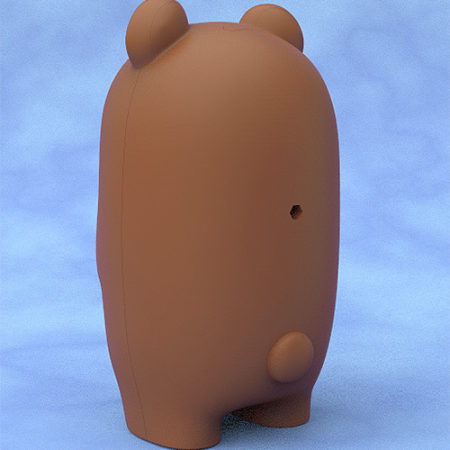 Nendoroid More Face Parts Case for Nendoroid Figures Brown Bear-2893