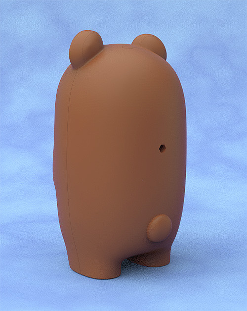 Nendoroid More Face Parts Case for Nendoroid Figures Brown Bear-2893