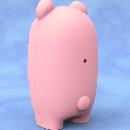 Nendoroid More Face Parts Case for Nendoroid Figures Pink Bear-2896