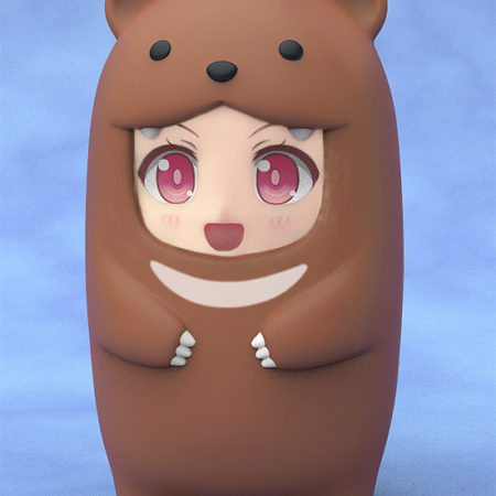Nendoroid More Face Parts Case for Nendoroid Figures Brown Bear-0