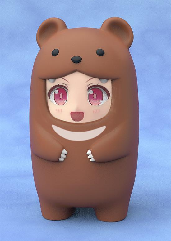 Nendoroid More Face Parts Case for Nendoroid Figures Brown Bear-0