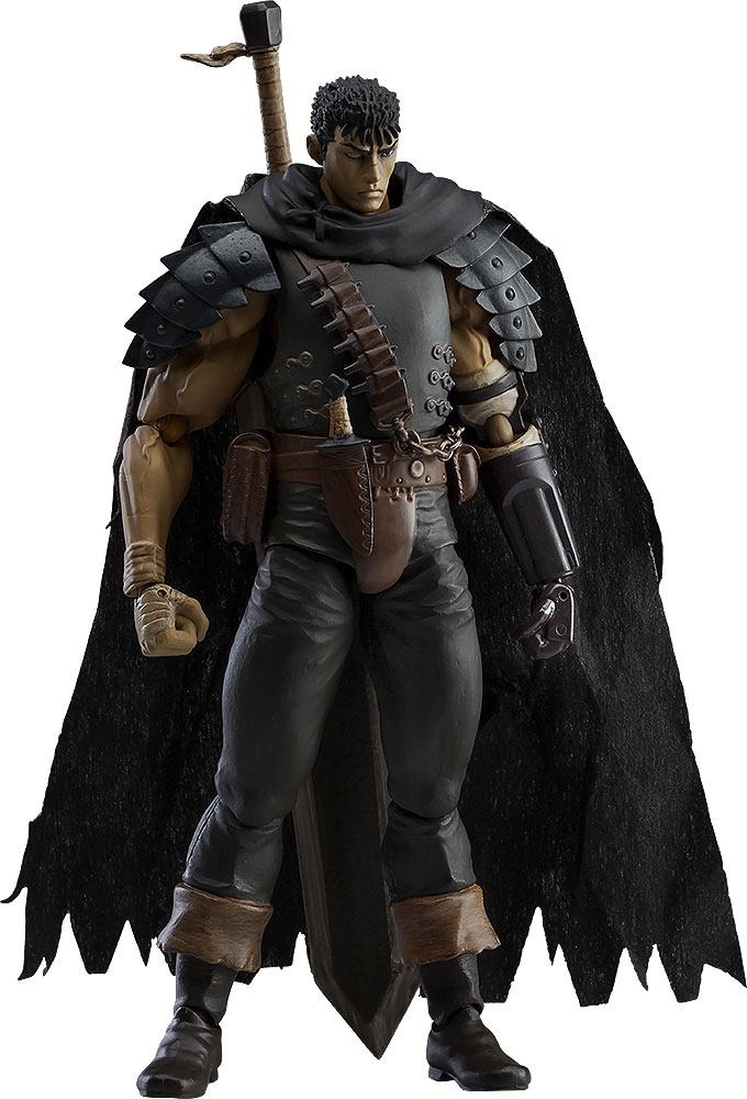 Berserk Figma Action Figure Guts Black Swordsman Ver. Repaint Edition-0