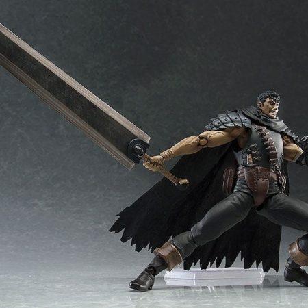 Berserk Figma Action Figure Guts Black Swordsman Ver. Repaint Edition-5451
