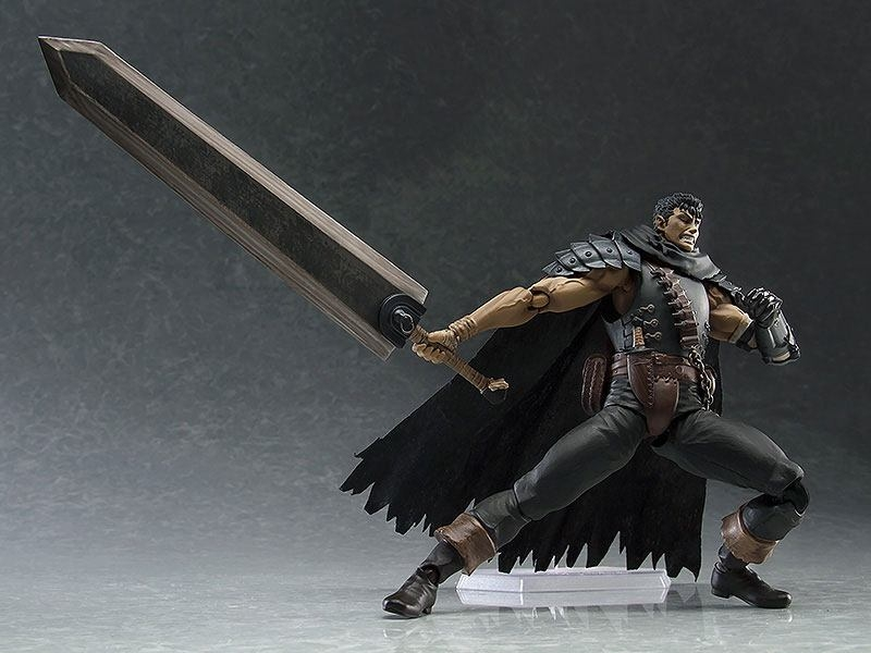 Berserk Figma Action Figure Guts Black Swordsman Ver. Repaint Edition-5451