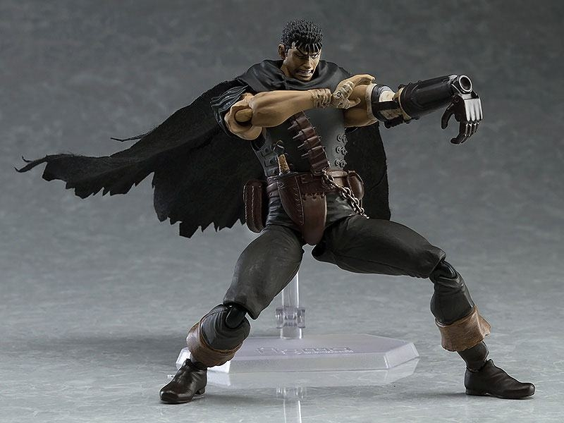 Berserk Figma Action Figure Guts Black Swordsman Ver. Repaint Edition-5452