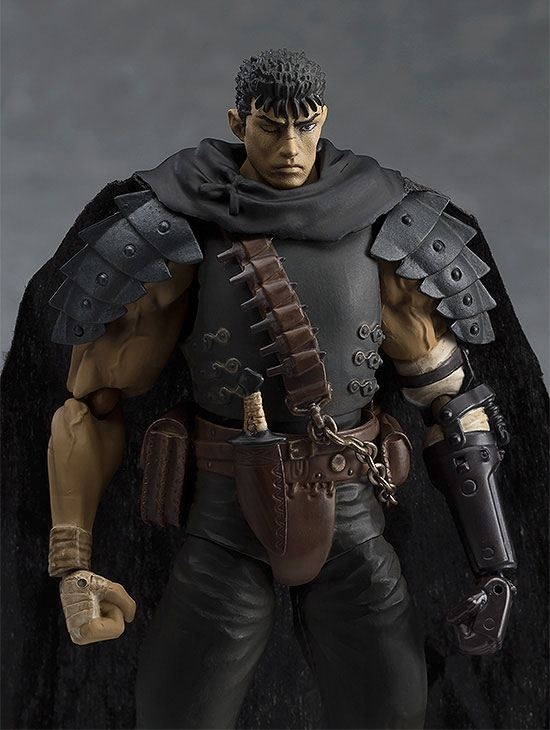 Berserk Figma Action Figure Guts Black Swordsman Ver. Repaint Edition-5455
